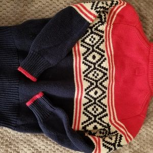 Gap kids Shirts & Tops - Boys red/navy 2 button sweater
